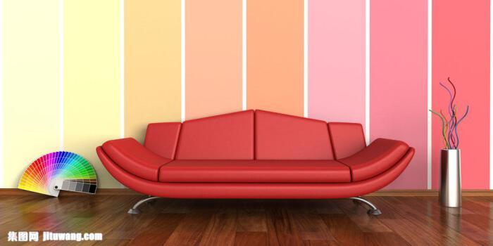 رنگ دیوار و مبلمان